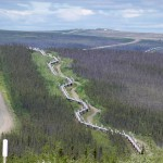 The Dalton Highway in Alsaka that the Aston Martin Rapide will tackle