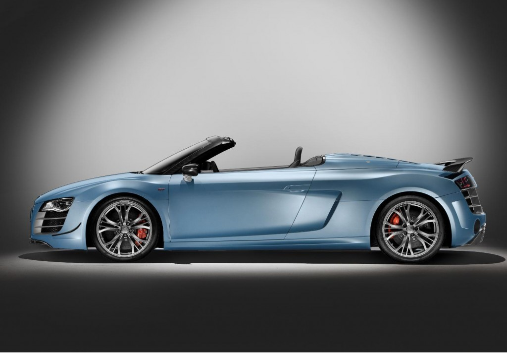 The new Audi R8 GT Spyder model looses weight with new lighter components for wheels, brakes and transmission