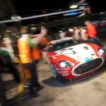 Aston Martin Zagato pits at Nürburgring 24 Hour race