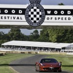 Ferrari 458 driven up the hill at Goodwood Festival of Speed