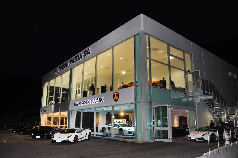 Lamborghini Lugano dealership officially opened