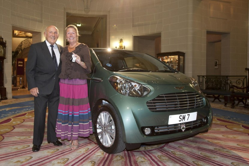 Sir Stirling Moss surprises wife with Aston Martin Cygnet present