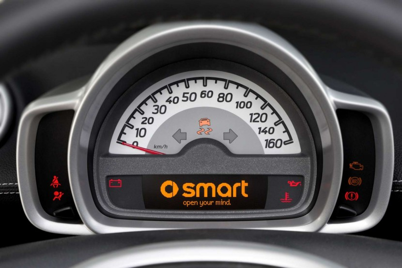 New smart fortwo car pearlgrey special edition