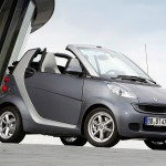 smart fortwo pearlgrey front exterior