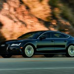 A black 2012 Audi A7 four door coupe