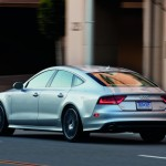 A light silver Audi A7