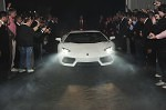 Lamborghini Aventador is showcased during the event in San Paolo