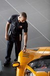 Lewis looks and touches a new MP4-12C McLaren