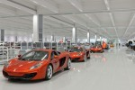 MP4-12C cars in the McLaren Production Centre