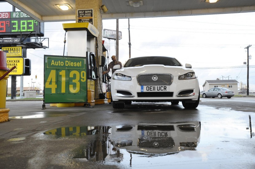 Diesel Jaguar XF completes USA crossing with just 4 fuel stops
