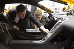 Prime Minister David Cameron takes a closer look at the McLaren MP4-12C