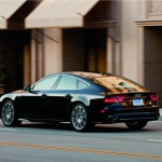 The black coupe 2012 Audi A7