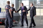 UK Prime Minister David Cameron visits McLaren and meets Lewis Hamilton and Jenson Button