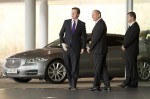UK Prime Minister David Cameron visits McLaren to open the brand-new McLaren Production Centre