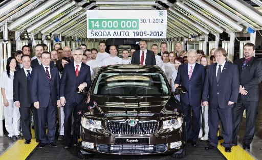 Škoda celebrates 14 million vehicles