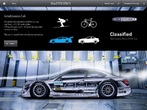 Mercedes-Benz C-Class Coupe iPad app brochure launches today