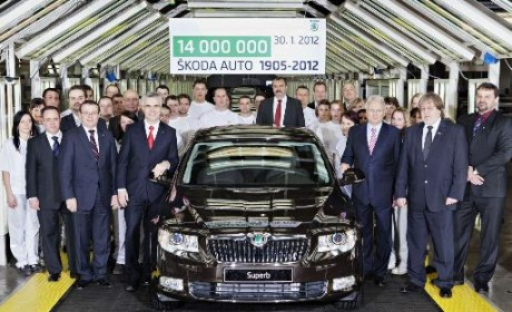 Škoda celebrates 14 million vehicles