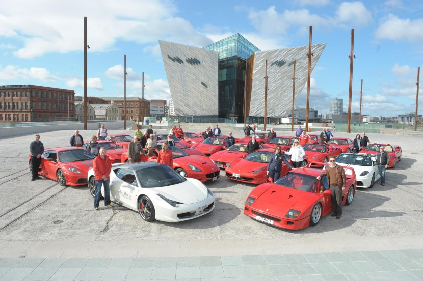 Titanic celebrations at Ferrari event in Belfast