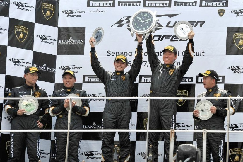 Lamborghini celebrate Blancpain Super Trofeo Asia Series race in Sepang