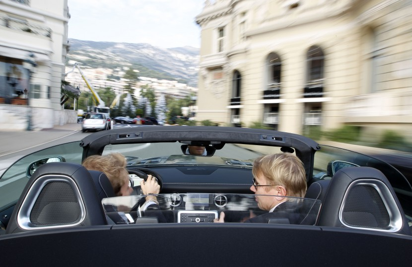 Mika, Nico, Monaco and a Mercedes-Benz SLS AMG Roadster