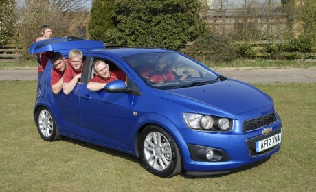 How many rugby players can you fit in a Chevrolet Aveo?