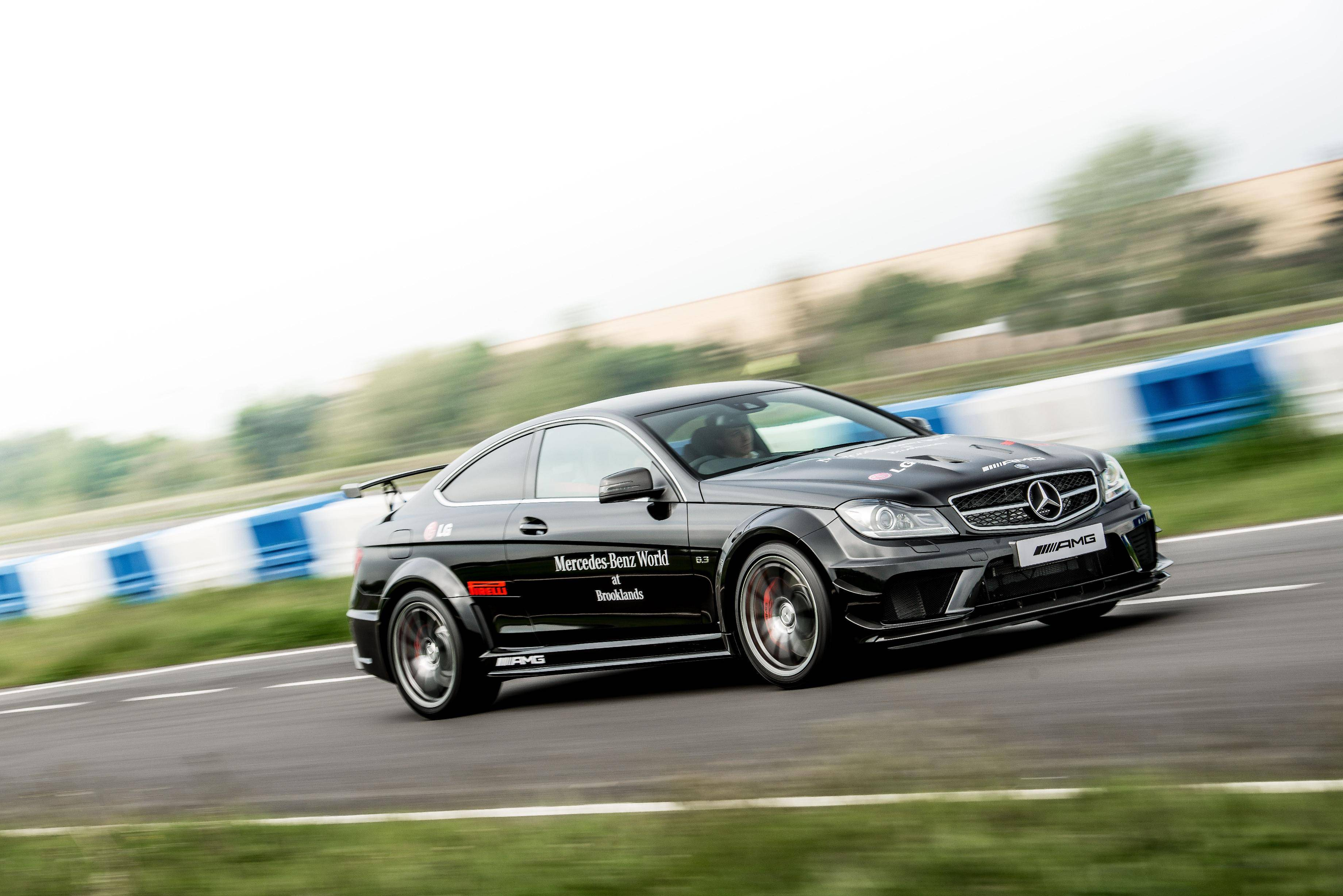 Drive the c63 amg coupe black series at mercedes benz for Mercedes benz brooklands