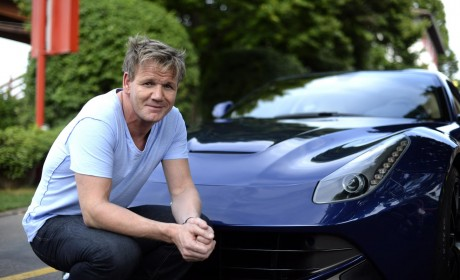 Gordon Ramsay approves of the fast food at Ferrari