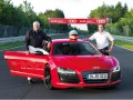 Michael Dick and Markus Winkelhock with the Audi R8 e-tron
