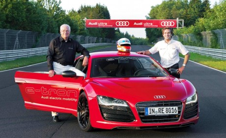Audi R8 sets a new Nürburgring lap record for electrically powered car