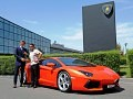 Stephan Winkelmann hands over the 1000 Lamborghini Aventador