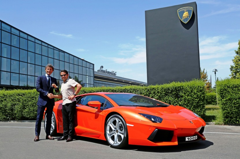 Lamborghini produces the 1000th Aventador