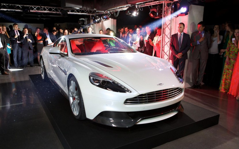 Aston Martin Vanquish debuts in London