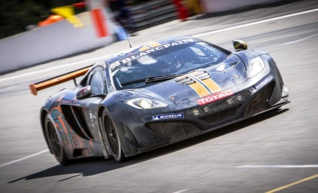 Pole position for McLaren 12C GT3 Spa 24 hours but race takes toll