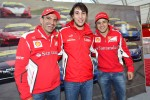 Massa At Ferrari World Record Convoy Parade At Silverstone Race Circuit 964 Cars On The Track