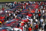 Ferrari World Record Convoy Parade At Silverstone Race Circuit 964 Cars On The Track