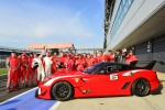 Ferrari Bring 599FXX To World Record Convoy Parade At Silverstone Race Circuit 964 Cars On The Track