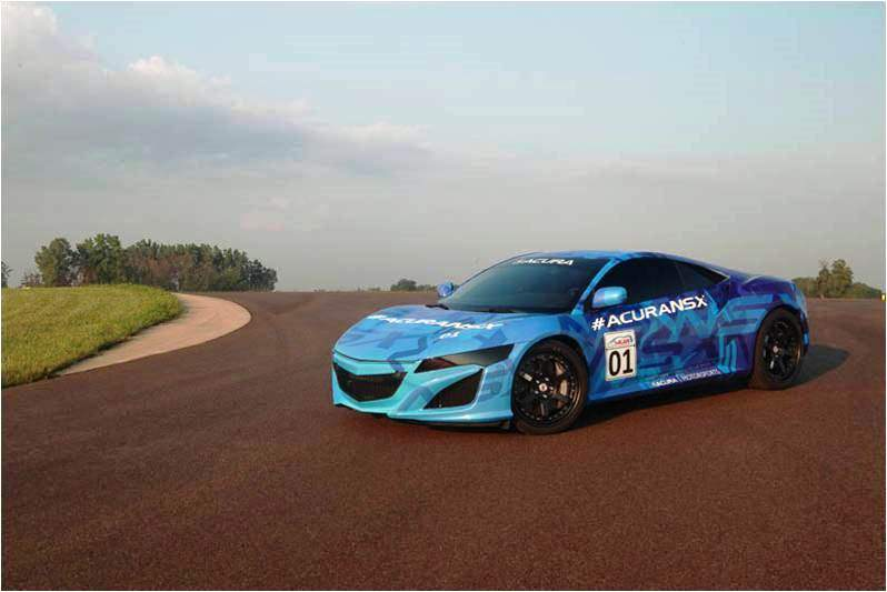 Honda NSX prototype shows potential during demonstration lap