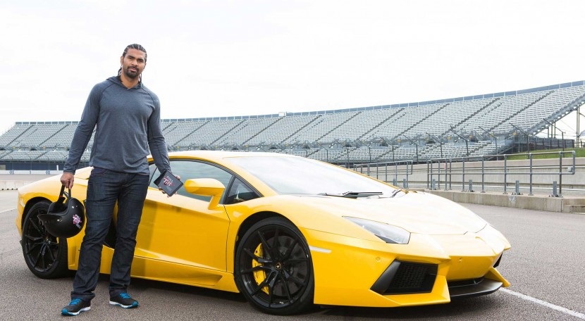The gloves come off as David Haye goes Full Tilt in a Lamborghini