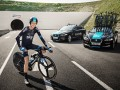 The first man to cycle through the Eurotunnel: Chris Froome