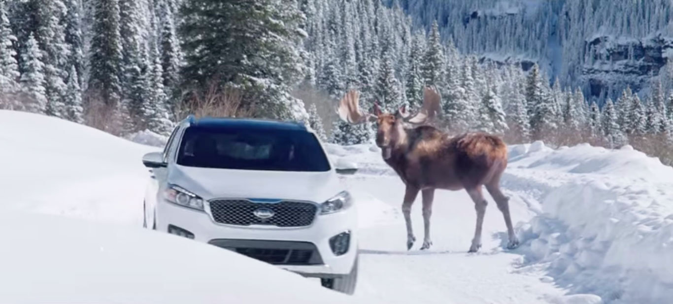 Kia Sorento and Pierce Brosnan Super Bowl commercial