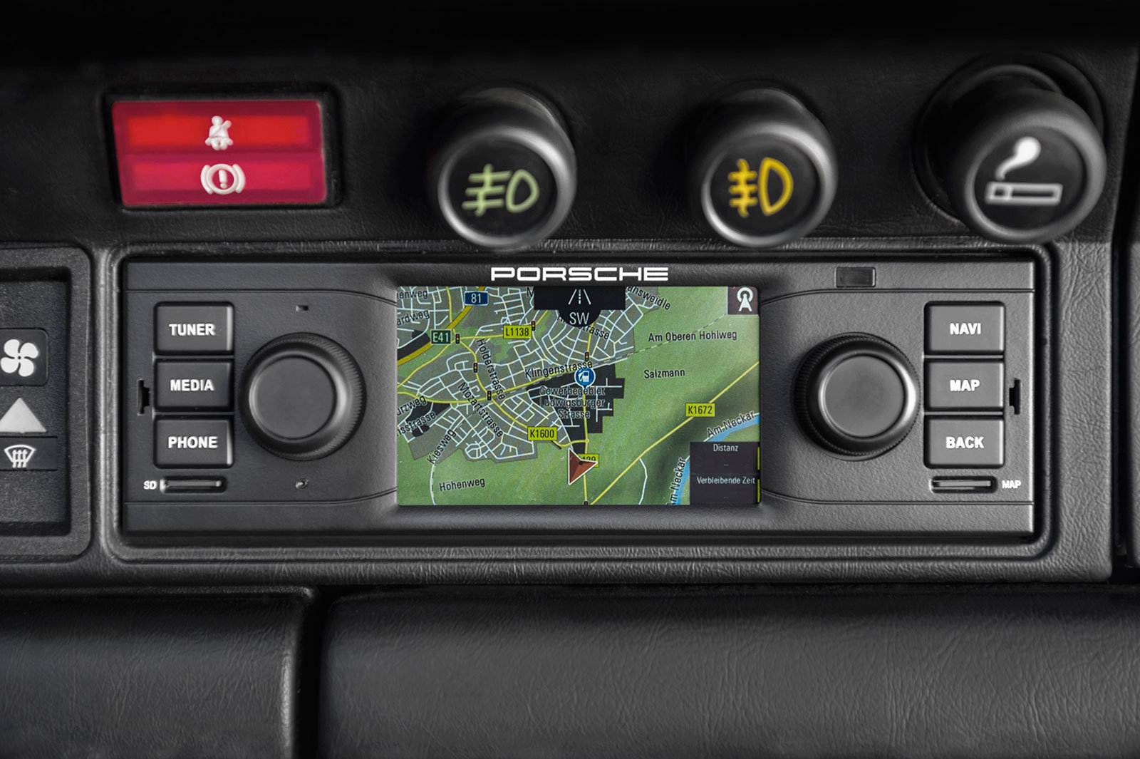 Porsche Classic 911 dashboard mounted navigation radio