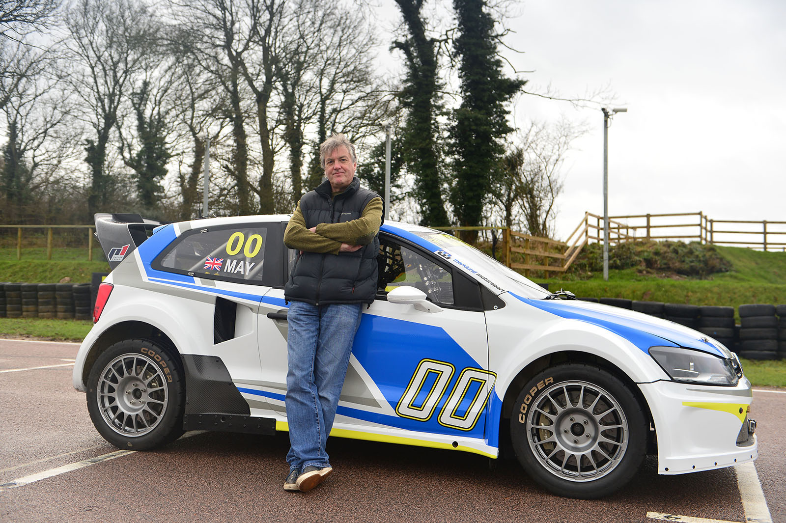 James May at Lydden Hill with 600hp VW Polo Rallycross car