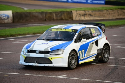 James May trying out the VW Polo at Lydden Hill