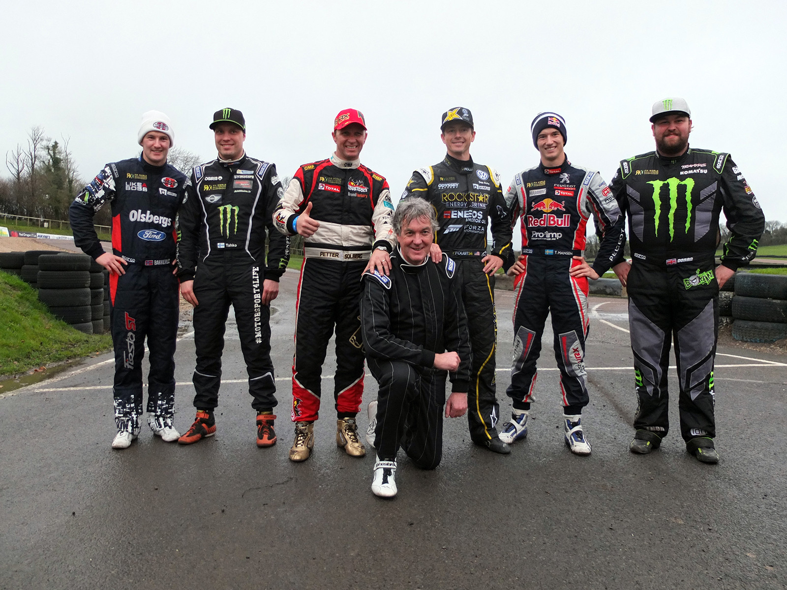 James_May at Lydden Hil with World Rallycross drivers